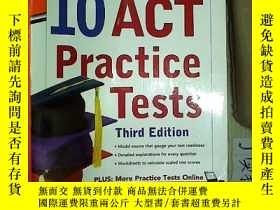 二手書博民逛書店罕見-Hill s 10 ACT Practice Tests