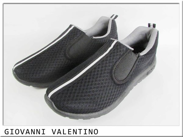 『雙惠鞋櫃』◆GIOVANNI VALENTINO◆網布休閒鞋便鞋◆ 臺灣製造◆ (GV8201) 黑、灰