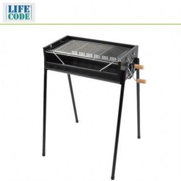 【LIFECODE】立式烤肉架-烤網可調高度-寬65cm