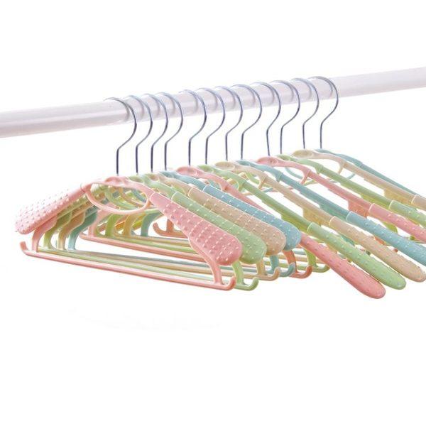 創意塑料兒童衣架防滑無痕衣架可伸縮晾衣架寶寶曬衣架衣撐衣服架