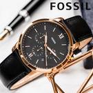 FOSSIL 極致品味時尚紳士腕錶 FS...