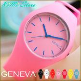 GENEVA 超薄矽膠腕錶 玩轉繽紛色彩 冰系列 比利時風格 男錶 女錶 中性錶 兒童錶 【KIMI store】