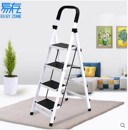 室內人字梯子家用折疊四步五步多功能爬梯加厚鋼管伸縮工程扶樓梯