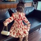 洋裝 女童雪紡裙春裝新款兒童韓版洋氣碎花百褶公主裙小女孩洋裝連衣裙 快速出貨