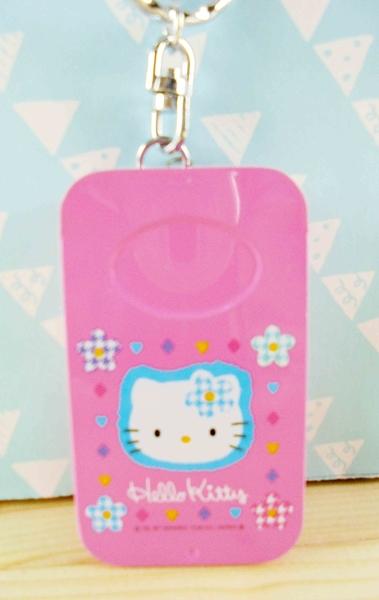 【震撼精品百貨】Hello Kitty 凱蒂貓~KITTY鐵盒附繩-粉花圖案