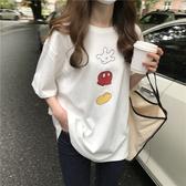DE shop -卡通印花小衫寬鬆顯瘦短袖T恤 - T-8405