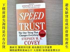 二手書博民逛書店The罕見speed of trust 信任的速度(英文版)Y204315 Stephen M.R. Cove