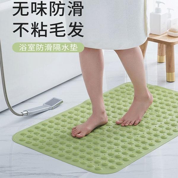 35×70長方浴室防滑地墊 吸盤式 腳踏墊 排水地墊 浴缸防滑墊 洗澡止滑墊 【SV9763】BO雜貨