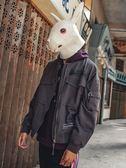飛行外套兔先森秋季外套男短版修身立領棒球外套男士外衣日系街頭飛行夾克潮