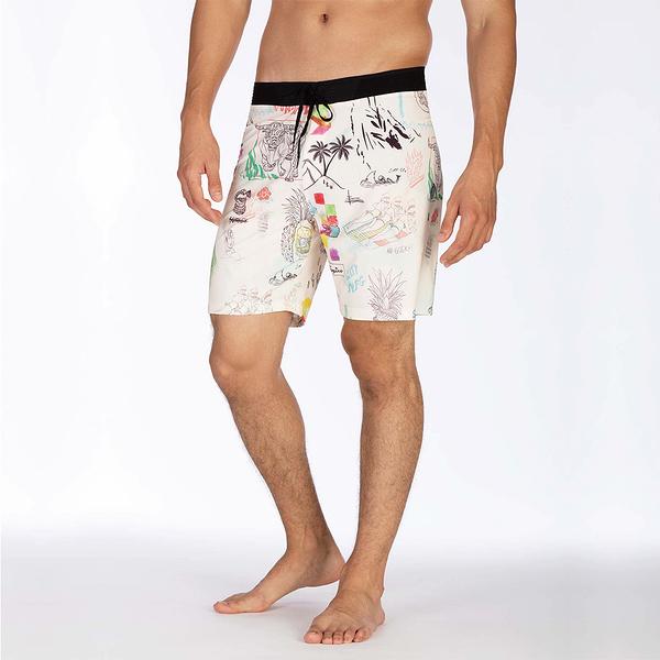 Hurley M HRLY PHNTM HW 3.0 BDST 18IN PALE IVORY 海灘褲-PHANTOM
