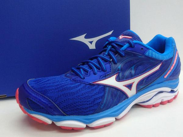 美津濃 MIZUNO 男慢跑鞋 INSPIRE 14(藍白)支撐型 J1GC184401【 胖媛的店 】