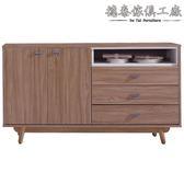 【德泰傢俱工廠】蘿拉4尺柚木色餐櫃 A003-291-13