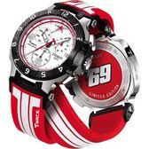 TISSOT 天梭 T-Race Nicky Hayden限量賽車計時手錶-白x紅 T0484172701700