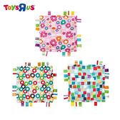 玩具反斗城 彩色標籤嬰兒安撫巾玩具