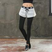 春夏假兩件運動彈力緊身褲女高腰速幹長褲跑步瑜伽健身褲壓縮褲   LannaS
