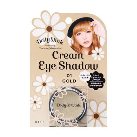 KOJI Dolly Wink 美型調色眼影霜 01絢麗金gold【益若翼代言】【七三七香水精品坊】