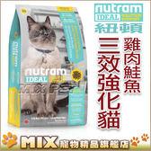 ◆MIX米克斯◆【買二送一】送貓取貓砂1包◆ 紐頓.I19三效強化貓(雞肉+鮭魚)配方【1.8KG】