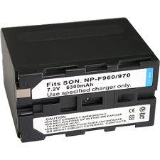 特價免運費~FOR SONY NP-F960/NP-F970 高容量6300mAh副廠鋰電池