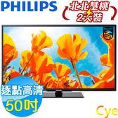 《出清1台+送壁掛架及安裝》Philips飛利浦 50吋50PFH5010 Full HD液晶顯示器附視訊盒