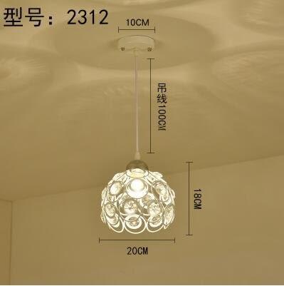 2312白色款北歐餐廳吊燈創意個性餐廳燈飯廳燈現代鐵藝