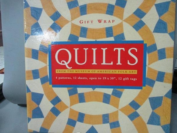 【書寶二手書T6/美工_XCT】Quilts from the Museum of American Folk Art/Giftwrap_Not Available (NA)