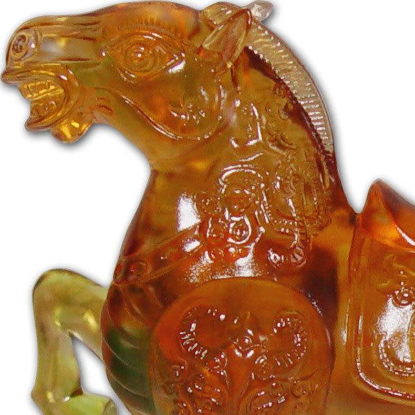 鹿港窯~居家開運水晶琉璃~ 駿馬歡騰◆附古法制作珍藏保證卡◆免運費送到家