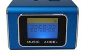 [富廉網] 音樂天使MD-05X  藍色, 含繁體中文字幕,  支援MICRO SD卡 / USB隨身碟, 鋁合金迷你音箱