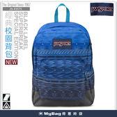 JANSPORT 後背包  43575-09L  數位波形 經典校園背包  漸層視覺設計   MyBag得意時袋