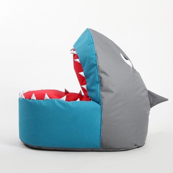 休閒小沙發豆袋兒童卡通布藝鯊魚懶人沙發創意單人可愛榻榻米椅床 YDL