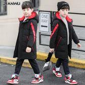 男童裝秋冬裝2018新款外套兒童男孩中長款棉衣棉服大童冬季韓版潮男女童厚外套