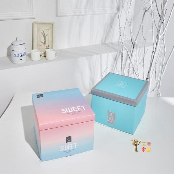 蛋糕包裝盒 蛋糕盒子6 8 10 12寸網紅蛋糕盒紙盒手提定製烘焙生日蛋糕盒子