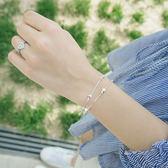 韓版925銀雙層星星手鍊女簡約學生閨蜜手鐲生日禮物飾品 LR650【歐爸生活館】