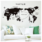 壁貼6090 WORLD MAP NIT...
