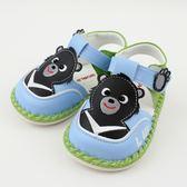 【愛的世界】黑熊寶寶鞋/學步鞋-台灣製- ★童鞋童襪
