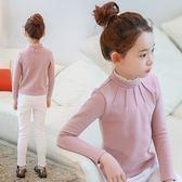 女童長袖內搭衣          女童打底衫加絨加厚半高領T恤兒童保暖長袖上衣大童韓版內搭 宜室家居