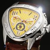 『潮段班』【SB000516】JARGAR 516 歐美男士時尚休閒心形三大自動機械手錶 皮帶手錶 男錶