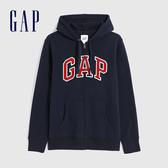 Gap男裝 Logo基本款休閒連帽外套 618866-海軍藍
