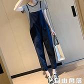 九分背帶褲女寬鬆韓版2020夏新款兩件套減齡小個子吊帶連體褲 自由角落