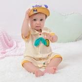 寶寶短袖連身衣夏季薄款網紅嬰兒純棉男女夏裝哈衣爬服新生兒衣服 快速出貨