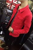 秋季牛仔外套男春秋韓版網紅夾克社會精神小伙潮流褂子帥氣上衣服  【PinkQ】