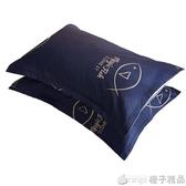 枕套一對裝枕頭套夏季涼爽冰絲全棉純棉單人單個兒童夏天加厚涼席 (橙子精品)