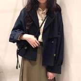 韓國訂單。2020秋季新復古小個子短款風衣女韓版chic寬鬆氣質外套