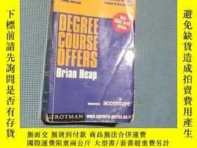 二手書博民逛書店degree罕見course offers 2002entryY408729