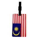 【收藏天地】台灣紀念品*木質行李吊牌-馬來西亞國旗