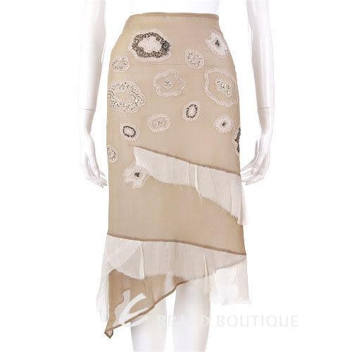 Lorella Braglia 灰耦色紗質珠飾裙 0510873-02