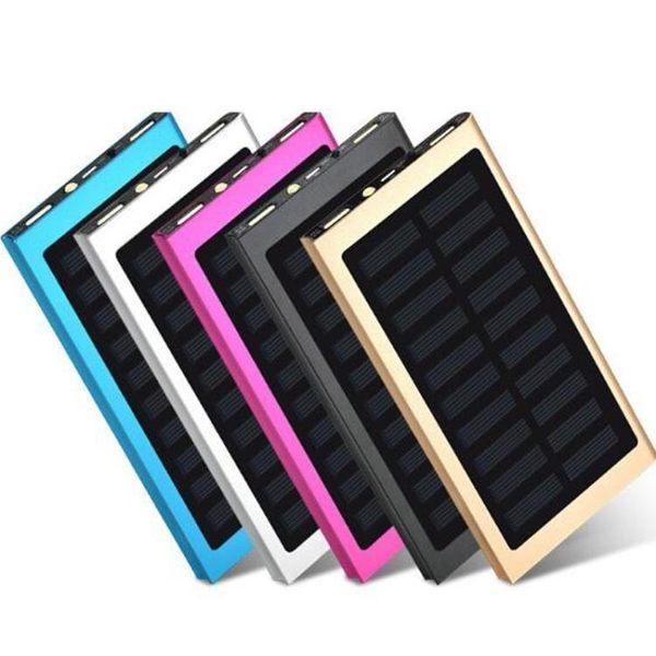 【有光就有電】超薄太陽能行動電源手機充電寶20000mah行動電源充電器通用 情人節禮物