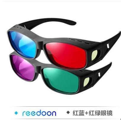 3D眼鏡 三D紅藍眼鏡3d普通電腦專用高清家庭電視電影片立體眼睛通用