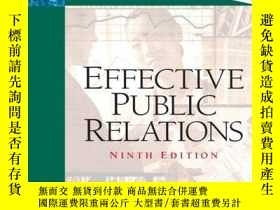 二手書博民逛書店Effective罕見Public RelationsY256260 Scott M. Cutlip Pear