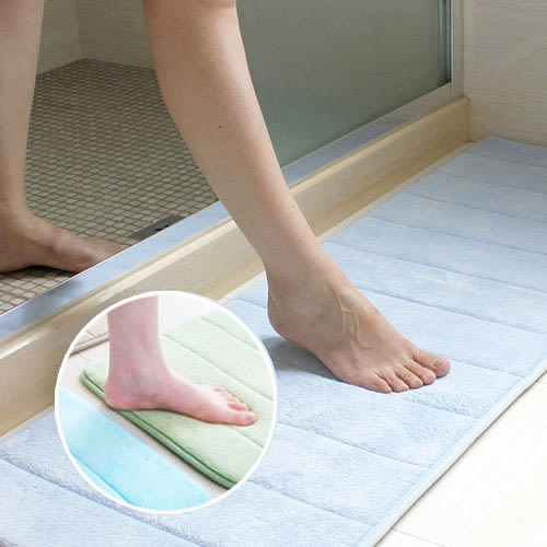 柔軟珊瑚絨海綿防滑地墊 40x60cm 地墊 防滑地墊 浴室地墊