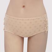 【瑪登瑪朵】浪漫法式蕾絲  低腰平口網內褲(奶茶膚)(未滿3件恕無法出貨,退貨需整筆退)